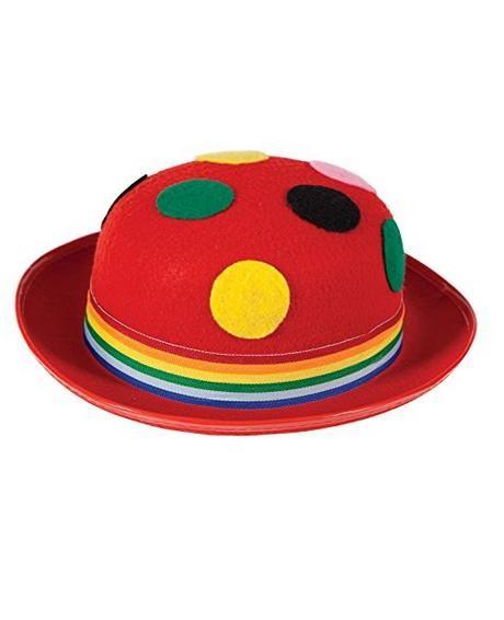 Clown Bowler Hat Red AC-9176 c09905a0609a
