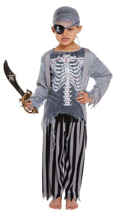 Halloween Costume 398.Child Zombie Pirate V20 397 V20 398 Kids Halloween Costumes
