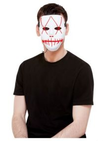 Stitch Purge Face Mask, Neon Red Light Up, White - 52362