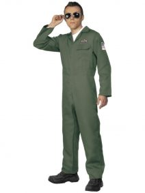 Aviator Costume Green Smiffys 28623