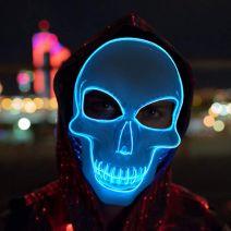 Purge Skeleton Light Up LED Mask - Blue LED Colour