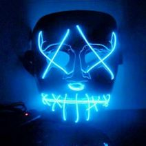 Purge Light Up Mask (BLUE LED) - WK PURGE MASK