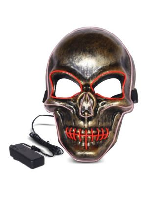 Purge Skeleton Light Up LED Mask - Red LED Colour