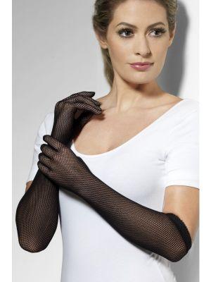 Black Fishnet Gloves 24632