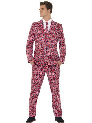 Stand Out Suit Smiffys Union Jack Suit 43520