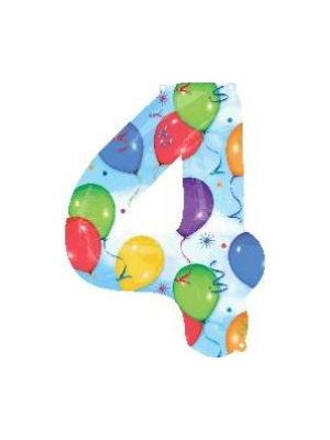 Number 4 Balloons Foil Balloon 28251