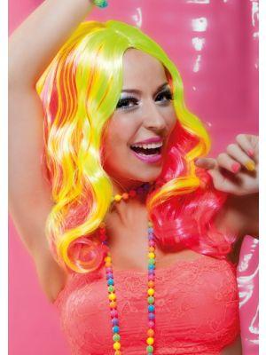 Wigs Sugar Rave Range Fancy Dress 85705