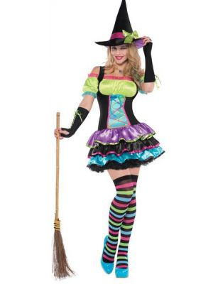 Pop Neon Witch Adults Costume 997516