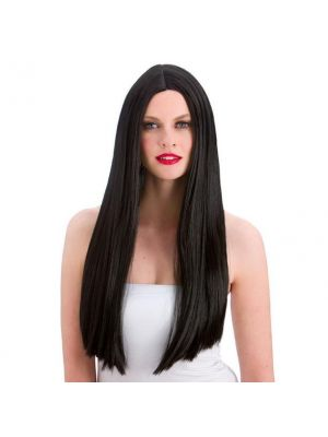 Classic Long Black Wig Wicked EW-8000