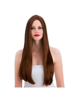 Classic Long Brown Wig Wicked EW-8002
