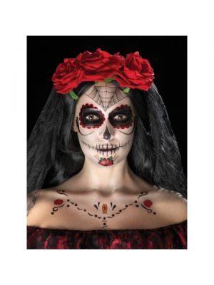 Day of the Dead Face Tattoo Transfers Kit 41570