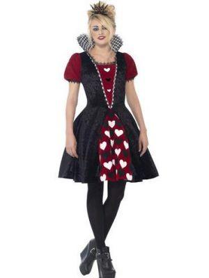 Deluxe Dark Red Queen Costume  44335