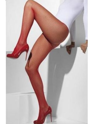 Fishnet Tights Red 42727