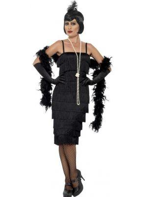 Flapper Long Black Costume  45502