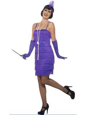 Flapper Purple Short Costume  45500