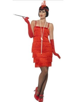 Flapper Red Short Costume  45499
