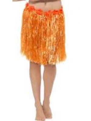 Hawaiian Hula Skirt Orange 45552