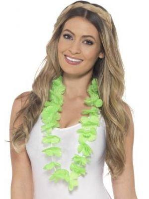 Hawaiian Lei Neon Green 45560