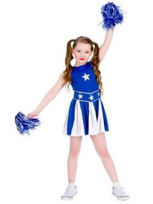 High School Cheerleader Blue Costume  EG-3583