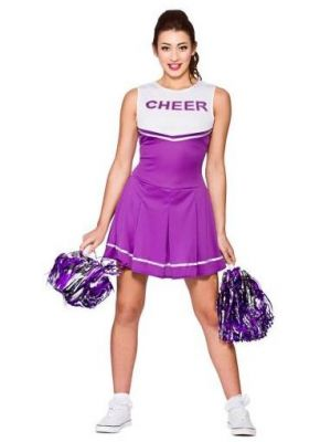 High School Purple Cheerleader Costume  EF-2193