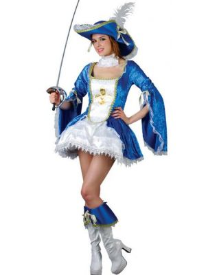 Lady Musketeer Blue Costume  SF-0083