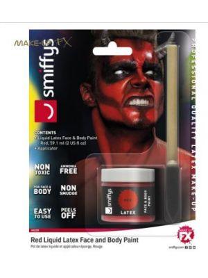 Liquid Latex Pot and Sponge Aplicator Red 46228