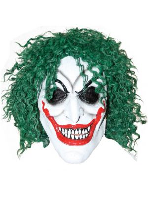 Smiling Clown with green hair Jolly Wodgers MA036