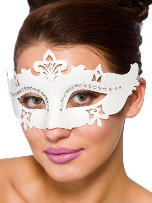 White Demonte Eye Mask MK-9954