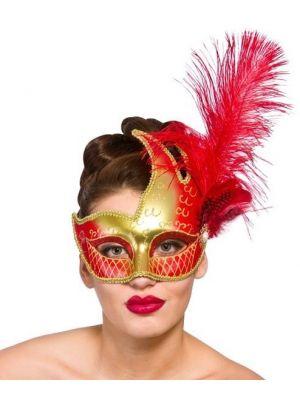 Gold & Red Revello Eye Mask MK-9957