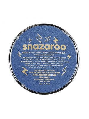 Metallic Electric Blue Snazaroo 18ml Face Paint 1118331