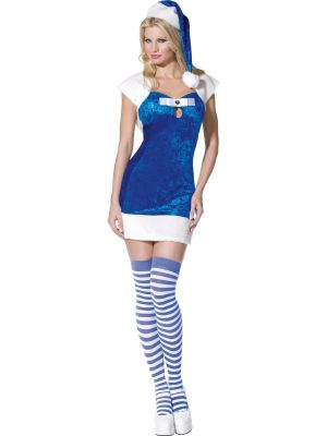 Miss Christmas Present Blue Costume  30742