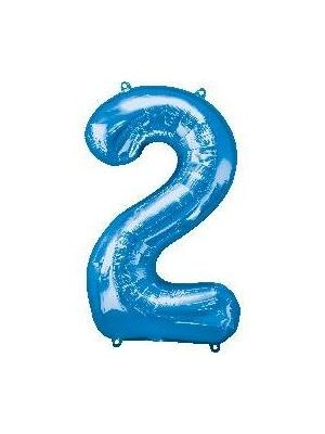 Number 2 Blue Foil Balloon 28276