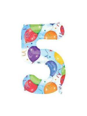 Number 5 Balloons Foil Balloon 28253