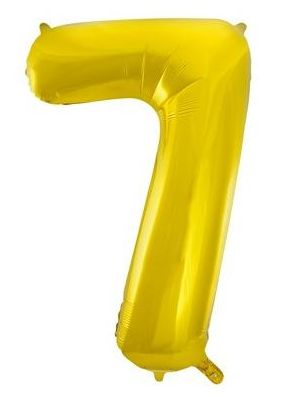 Number 7 Gold Foil Balloon 55767