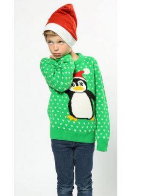 Penguin Green Jumper Kids CS442