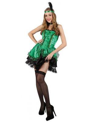 Sexy Saloon Gal Green Costume  SF-0109