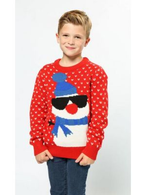 Snowman Red Jumper Kids CS443