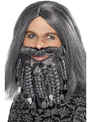 Terror of the Sea Pirate Wig And Beard Set Grey 43284