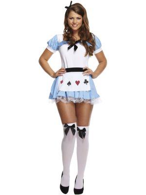 Alice In Wonderland Ladies Fancy Dress Costume U36092