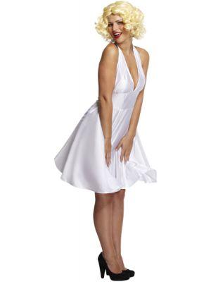 Lady in White Fancy Dress Costume U37 157