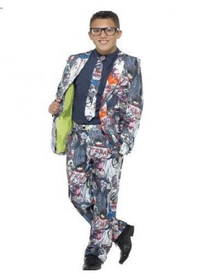 Smiffy's Zombie Boy Suit Stand Out Suits Fancy Dress 45956