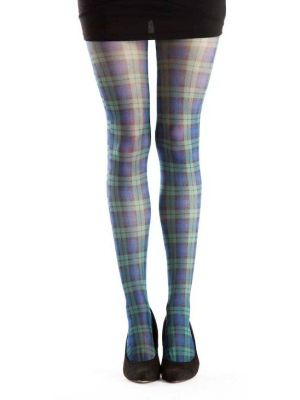 Tartan Printed Tights - Blackwatch Tartan Multi 5055419608052
