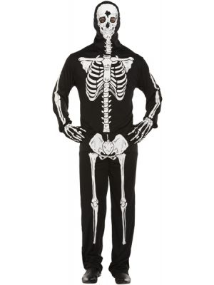 Skeleton All-in-One Fancy Dress V37 724