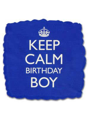 Keep Calm Bday Boy Helium Balloon