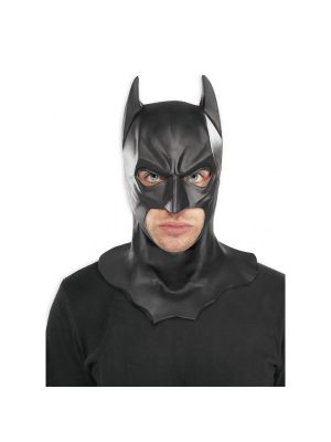 Batman Full Face Rubber Mask W/Batman Logo Official