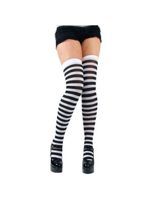 Black and White Thigh Highs