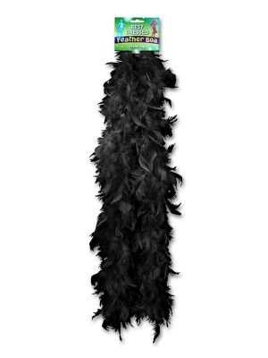 Feather Boa Black 150cm U07088