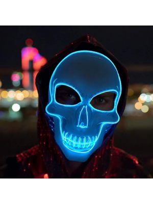 Purge Skeleton Light Up LED Mask - Blue LED Colour
