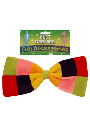 Clown Bow Tie Rainbow Large Henbrandt