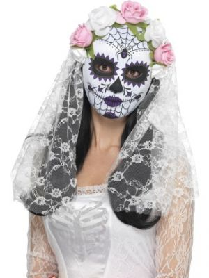 Day of the Dead Bride Full Face Mask 44899